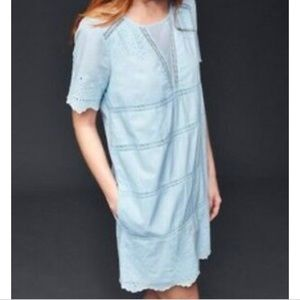 NWT Gap Kylie Eyelet Shift Dress